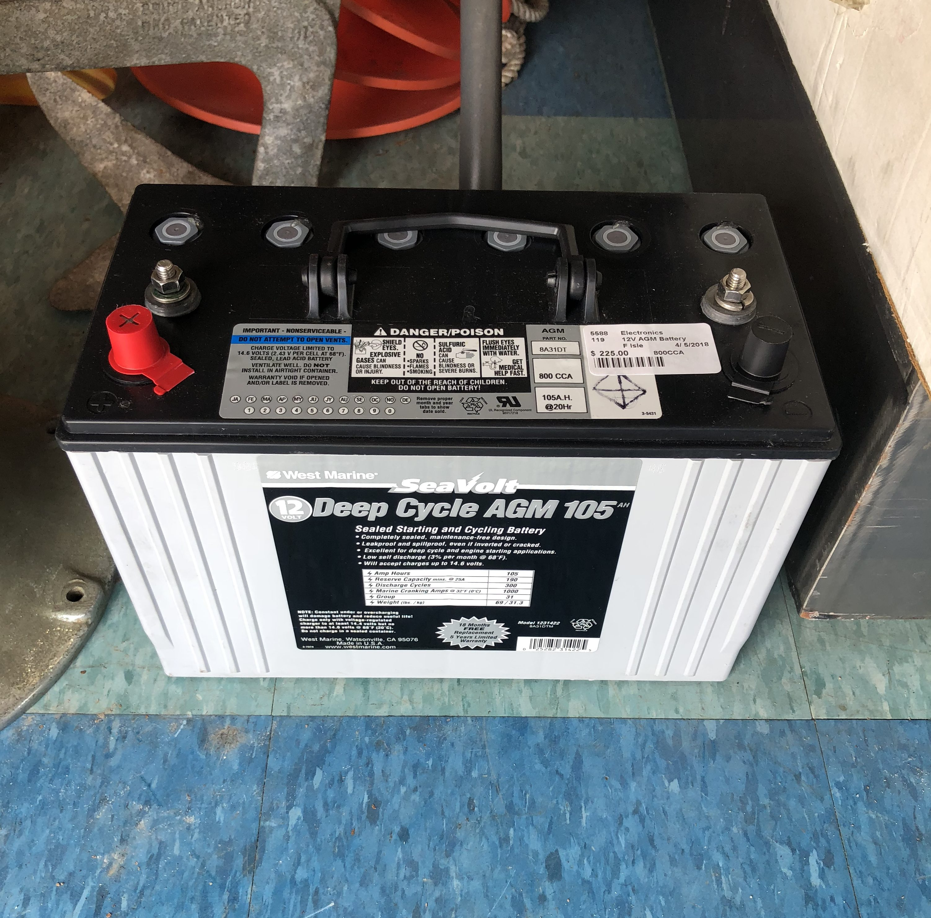 West Marine Sea Volt Deep Cycle Agm Battery