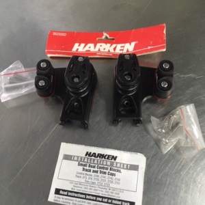 """""""New"""" Harken 22mm End Control – Double Sheave, Cam Cleat, Set of 2"""